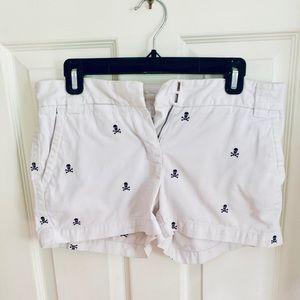 Jcrew women's skull shorts